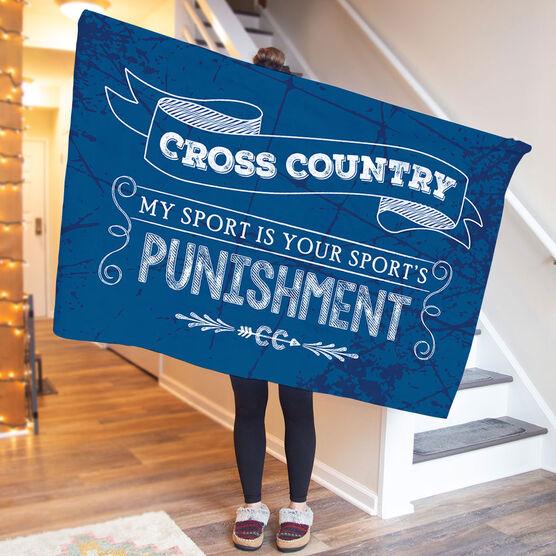Cross Country Premium Blanket - Chalkboard My Sport Is Your Sport's Punishment