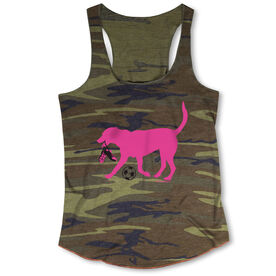 Soccer Camouflage Racerback Tank Top - Sasha The Soccer Dog