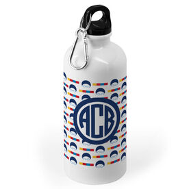 Swimming 20 oz. Stainless Steel Water Bottle - Personalized Swimming Pattern Monogram