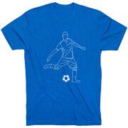 Soccer Short Sleeve T-Shirt - Soccer Guy Player Sketch
