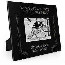 Hockey Engraved Picture Frame Side Sticks (Goalie)