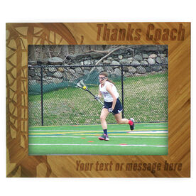 Girls Lacrosse Bamboo Engraved Picture Frame Thanks Coach