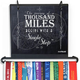 BibFOLIO+™ Race Bib and Medal Display - The Journey Of A Thousand Miles