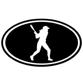 Softball Girl Silhouette Vinyl Decal
