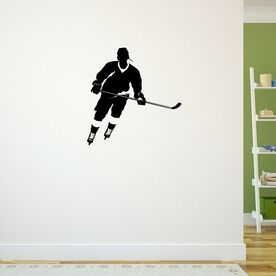 Hockey Player Rink Turn Removable ChalkTalkGraphix Wall Decal