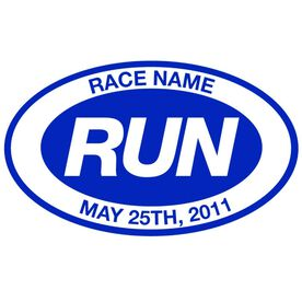 Personalized RUN Oval Running Vinyl Decal