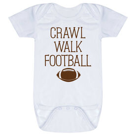Football Baby One-Piece - Crawl Walk Football
