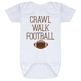 Football Baby One-Piece - Crawl Walk Football