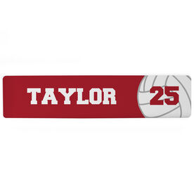 "Volleyball Aluminum Room Sign - Your Name And Number (4""x18"")"