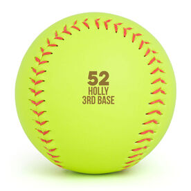 Personalized Engraved Softball - Personalized Player