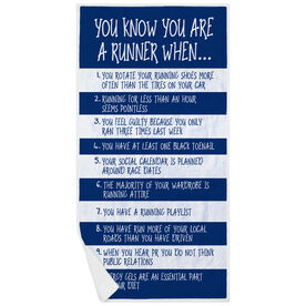 Running Premium Beach Towel - You Know You're A Runner When