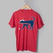 Baseball T-Shirt Short Sleeve Play Ball Christmas Dog