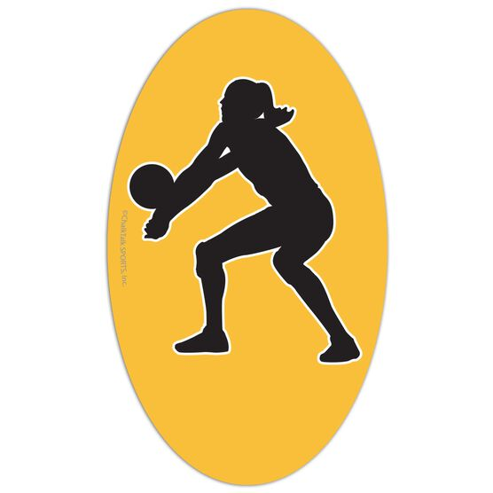 Volleyball Oval Car Magnet Bump