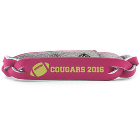 Football Leather Engraved Bracelet Your Text