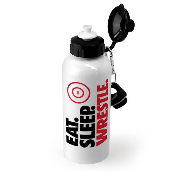 Wrestling 20 oz. Stainless Steel Water Bottle - Eat. Sleep. Wrestle.