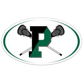 Car Magnet - Pentucket Youth Lacrosse Logo (White)