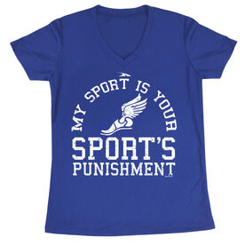 Women's Cross Country Short Sleeve Tech Tee My Sport Is Your Sports Punishment (Athletic)
