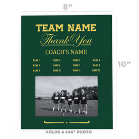 Field Hockey Photo Frame - Thank You Coach Roster