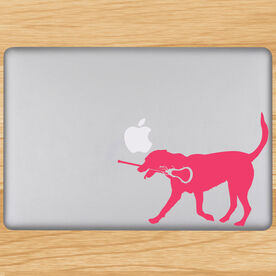 Girls Lacrosse Removable LuLaGraphix Laptop Decal LuLa The Lax Dog