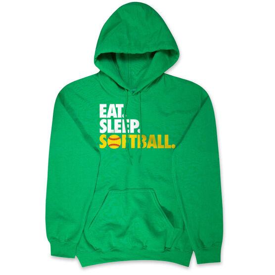 Softball Hooded Sweatshirt - Eat. Sleep. Softball.
