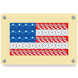 Triathlon Metal Wall Art Panel - Flag With Elements