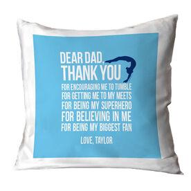 Gymnastics Female Pillow Dear Dad
