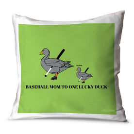 Baseball Throw Pillow Baseball Mom Lucky Ducks