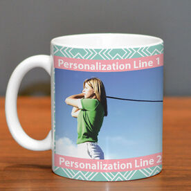 Golf Coffee Mug Custom Photo with Pattern