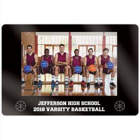 "Basketball 18"" X 12"" Aluminum Room Sign - Team Photo"