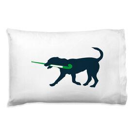 Field Hockey Pillowcase - Flick The Field Hockey Dog
