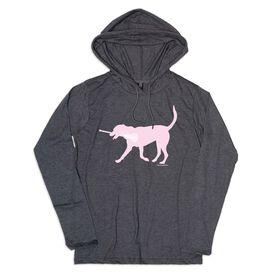 Girls Lacrosse Lightweight Hoodie - LuLa The Lax Dog Pink