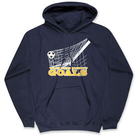 Soccer Hooded Sweatshirt - Soccer What's Life Without Goals