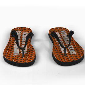 Football Flip Flops Pattern