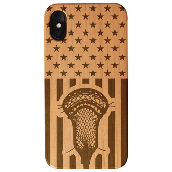 Guys Lacrosse Engraved Wood IPhone® Case - USA Lacrosse