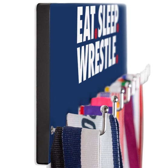 Wrestling Hooked on Medals Hanger - Eat Sleep Wrestle