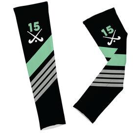 Field Hockey Printed Arm Sleeves Personalized Field Hockey Sticks with Stripes
