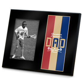 Guys Lacrosse Photo Frame - Greatest Dad Stripes
