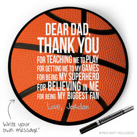 Basketball Circle Plaque - Dear Dad