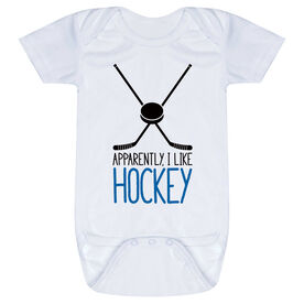 Hockey Baby One-Piece - Apparently, I Like Hockey