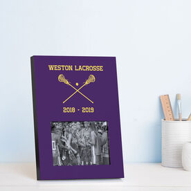 Girls Lacrosse Photo Frame - Team