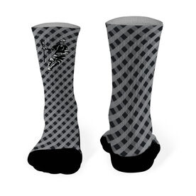 Lacrosse Printed Mid Calf Socks Gingham Laxer