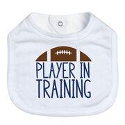 Football Baby Bib - Player In Training