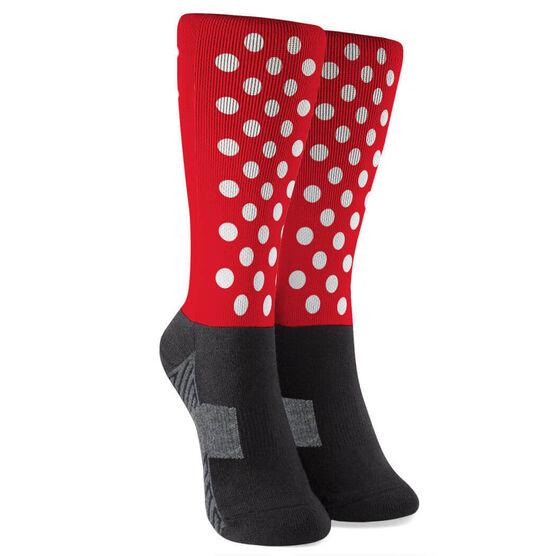 Printed Mid-Calf Socks - Polka Dots