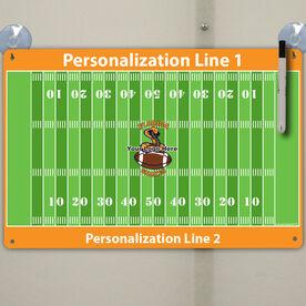 """Football Custom Dry Erase Coach Board Full Fields - 18"""" X 12"""""""