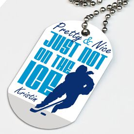 Hockey Printed Dog Tag Necklace Pretty And Nice Just Not On The Ice