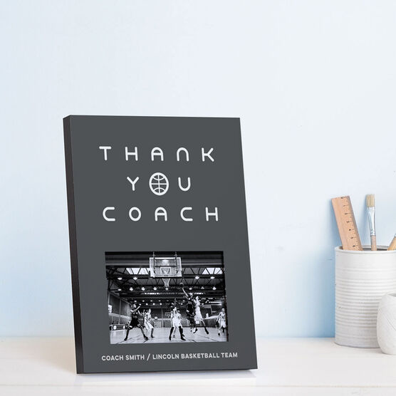 Basketball Photo Frame - Thank You Coach