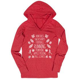 Women's Running Lightweight Performance Hoodie - Fall Running