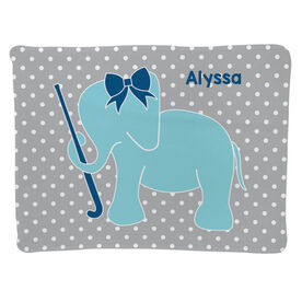 Field Hockey Baby Blanket - Field Hockey Elephant with Bow