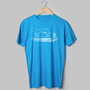 Fly Fishing Short Sleeve T-Shirt - Fly Fishing Sketch
