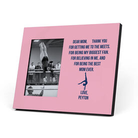 Gymnastics Photo Frame - Dear Mom Heart (Girl Gymnast)